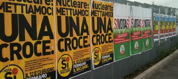 イタリアでの「原発」国民投票の際のポスター